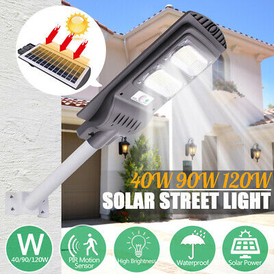 120W LED Solar Street Light RadarSensor Light Control Outdoor Garden Wall Lamp