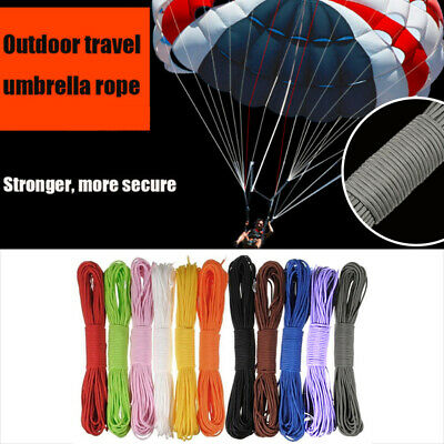 100FT 550 Parachute Cord Mil Spec Type III Paracord 7 Strands Cores Lanyard