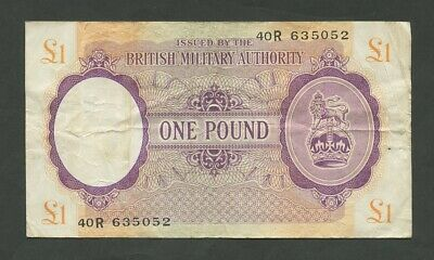 BRITISH MILITARY AUTHORITY  £1  WWII  Krause M6  Fine  Banknotes