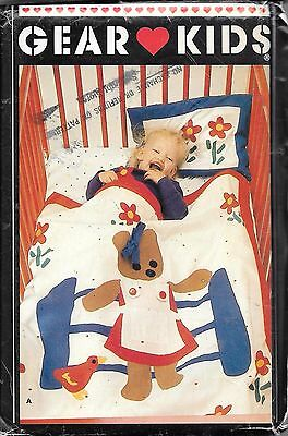 Butterick Baby accessories cot quilt pillow sewing pattern UNCUT 6414 teddy bear