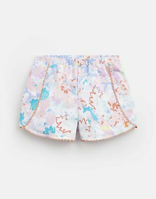 Joules Girls Suzette Jersey Printed Shorts  - BLUE MERMAID DITSY