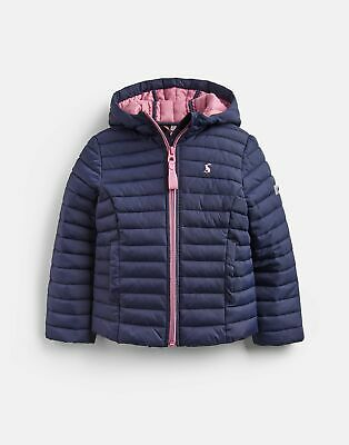 Joules Girls Kinnaird Padded Packable Coat Years in FRENCH NAVY