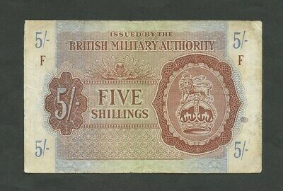 BRITISH MILITARY AUTHORITY  5 sh  WWII  Krause M4  Banknotes