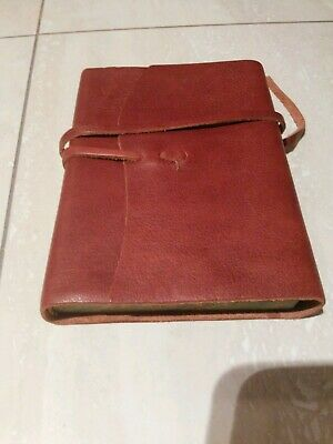 Leather  Journal  Diary   Made  In  Italy  Of  Essence  Du  Papier