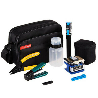 9 In 1 Fiber Optic FTTH Tool Kit with FC-6S Fiber Cleaver and Power Meter SPFR