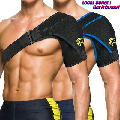 Shoulder Support Brace Compression Therapy Adjustable Strap Joint Pain Relief AU