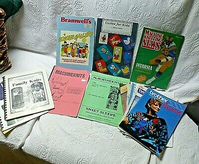 14 x Assorted Machine Knitting Pattern Books for kids & adults inc Brother