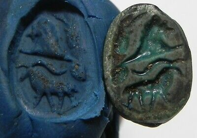 Zurqieh - As13185-  Ancient Egypt. New Kingdom Faience Scarab. 1400-1200 B.c