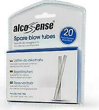 20 AlcoSense Breathalyser Blow Tubes suitable for the Lite,Elite,Excel,Pro Ultra
