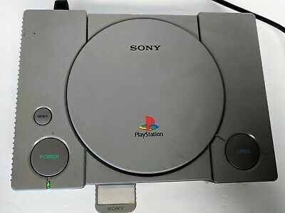 Original Sony Playstation PSone Console with Memory Card_No Controllers_Untested