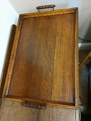 antique large oak BUTLERS TRAY