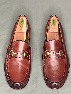 fbbe8aba5 $695 GUCCI 1953 Horsebit Loafers 8D Black Mens 8 D Loafer Leather ...