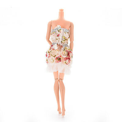 1 X Fashion Handmade Clothes Flower Dresses Package Hip Skirt For  C211