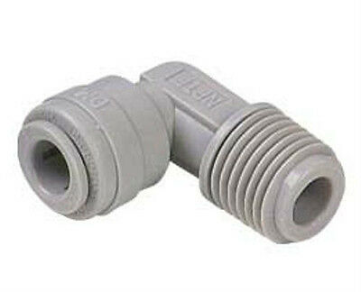 """Reverse Osmosis John Guest Style Quick Connect Fitting 1/8""""MPT x1/4""""  Elbow NSF"""