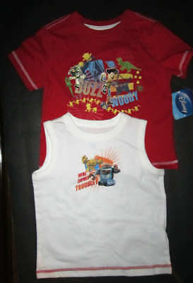Disney Lot of 2 Toy Story Buzz lightyear Boys Shirts size 24 Months NWT