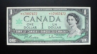 1967 BANK OF CANADA $1 Dollar Rare Replacement Note *L/O BC-45bA (40000 printed)