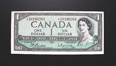 1954 BANK OF CANADA $1 Dollar Replacement Note *S/O 0180263  BC-37bA