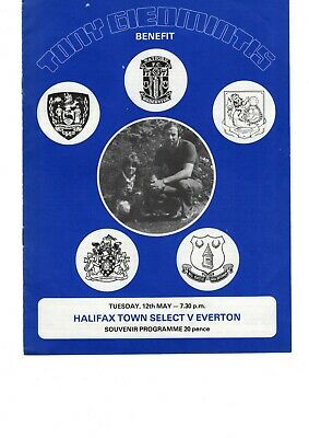 12/05/1981 HALIFAX TOWN SELECT v EVERTON PROGRAMME