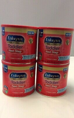 ENFAGROW PREMIUM TODDLER NEXT STEP MILK DRINK POWDER. 4- 24 oz cans. New!