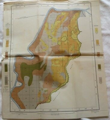 "1902 Antique Map Arizona Yuma Colorado River 15 X 18"" #8804"