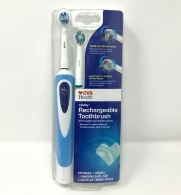 CVS - Infinity Rechargeable Oscillating Toothbrush With 2 EasyFlex Brush Heads