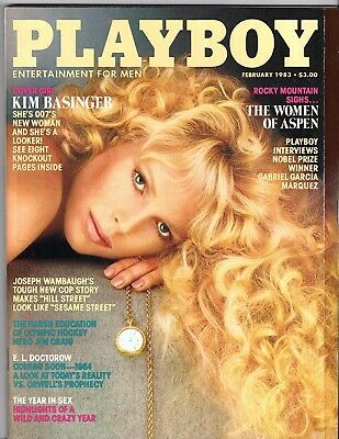 Playboy Magazine 2/83, February 1983,  with centerfold still attached
