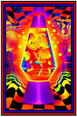 Lava Flow - Blacklight Poster - 24X36 - Psychedelic 429