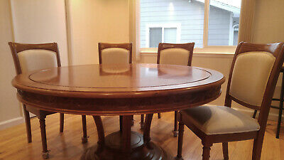 Quality Rose wood dining table + 4 chairs
