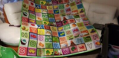Extra Large 2 Side Soft  Educational Baby Kids Toddler Floor Play mat Crawl