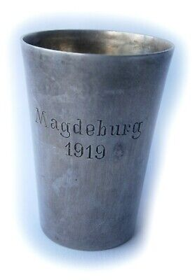 GERMANY Wine Drink CUP Beaker Drinkware 1919 German STERLING Silver 800 Jewelry