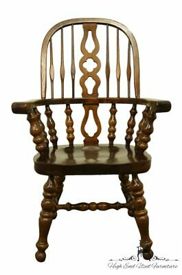 ETHAN ALLEN Antiqued Pine Old Tavern Bowback Dining Arm Chair 12-6014A