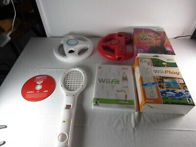 Box Of Misc Wii Stuff
