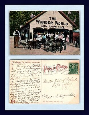 Rhode Island Wonder World Posted 1908 To Master Eldred Card, Hope Valley