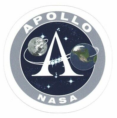 "NASA APOLLO PROGRAM STICKER Authentic NASA SPACE 3.5/"" Made in USA"