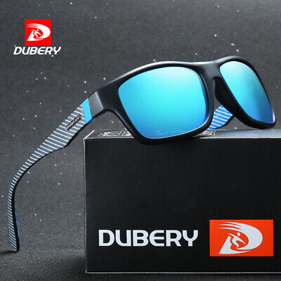 DUBERY Mens Womens Vintage Polarized Sunglasses Driving Shades Outdoor Eyewear
