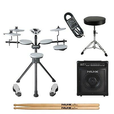 Nux DM1 Portable Digital Electronic Drum Kit with Amp - New