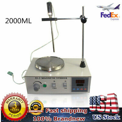2000ml Hotplate Mixer Magnetic Stirrer with Heating Plate 85-2 110V 2400rpm/min