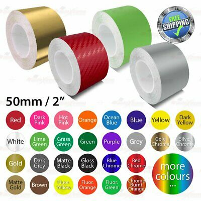 """50mm 2"""" PinStriping Pin Stripe Tape Car DIY Styling Line Decal Vinyl Stickers"""
