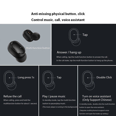 Xiaomi Redmi Airdots TWS Bluetooth Earphone Stereo BT 5.0 Eeadphones Earbuds