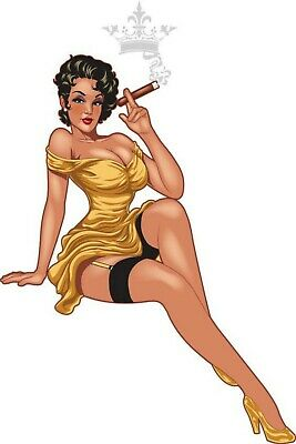 Cigar Pinup Girl Fridge Magnet Man Cave Sign Garage BAR Decor Shop Garage Tool 3