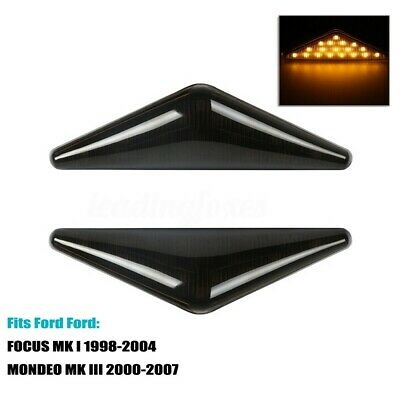 2 Smoked LED Side Marker Indicators Repeater Light For Focus Mk1 Ford Mondeo Mk3