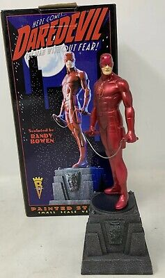 Marvel Randy Bowen Designs DareDevil Small Scale Painted Statue Red /4000 w Box