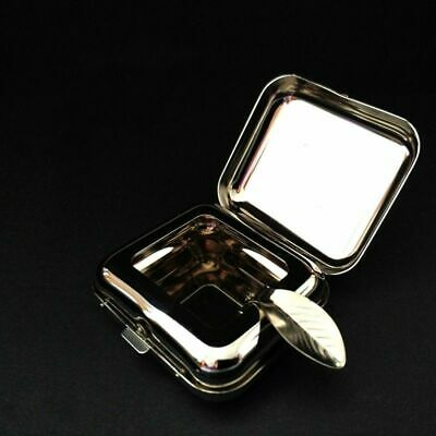 Stainless Steel Mini Pocket Travel Ashtray Metal Tray Lids Portable Carry Gift