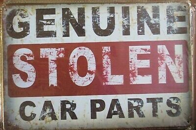 genuine stolen car parts  30 by 20 cm tin metal sign MAN CAVE brand new