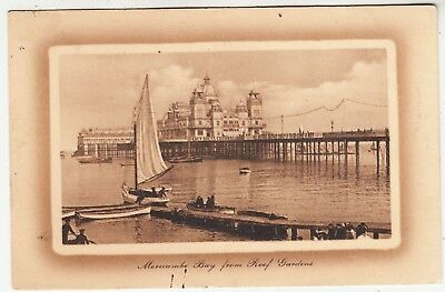 MORECAMBE BAY FROM ROOF GARDENS - Central Pier - 1913 used Lancashire postcard