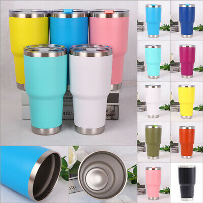 39d963345dd Stainless Steel Vacuum Tumbler Insulated Travel Coffee Mug Cup Flask 30 oz