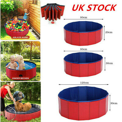 Portable Pet Bath Dog Swimming Pool Foldable Bath Paddling Puppy Bathtub 4 Size