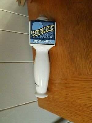 Blue Moon Belgian White Belgian-Style Wheat Ale Beer Tap Handle Ceramic