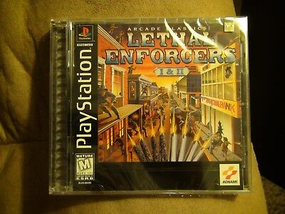 Lethal Enforcers I & II Sony PlayStation Brand New Factory Sealed Game Disc Rare