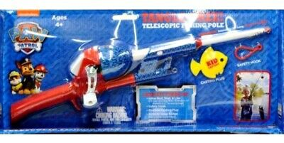 New Paw Patrol Kidcaster Tangle Free Telescopic Fishing Pole